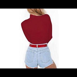 Sweaters - Turtleneck Onesie Bodysuit